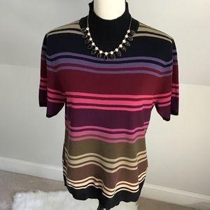 🍂🍁Sag Harbor Multi Striped Sweater Size Medium